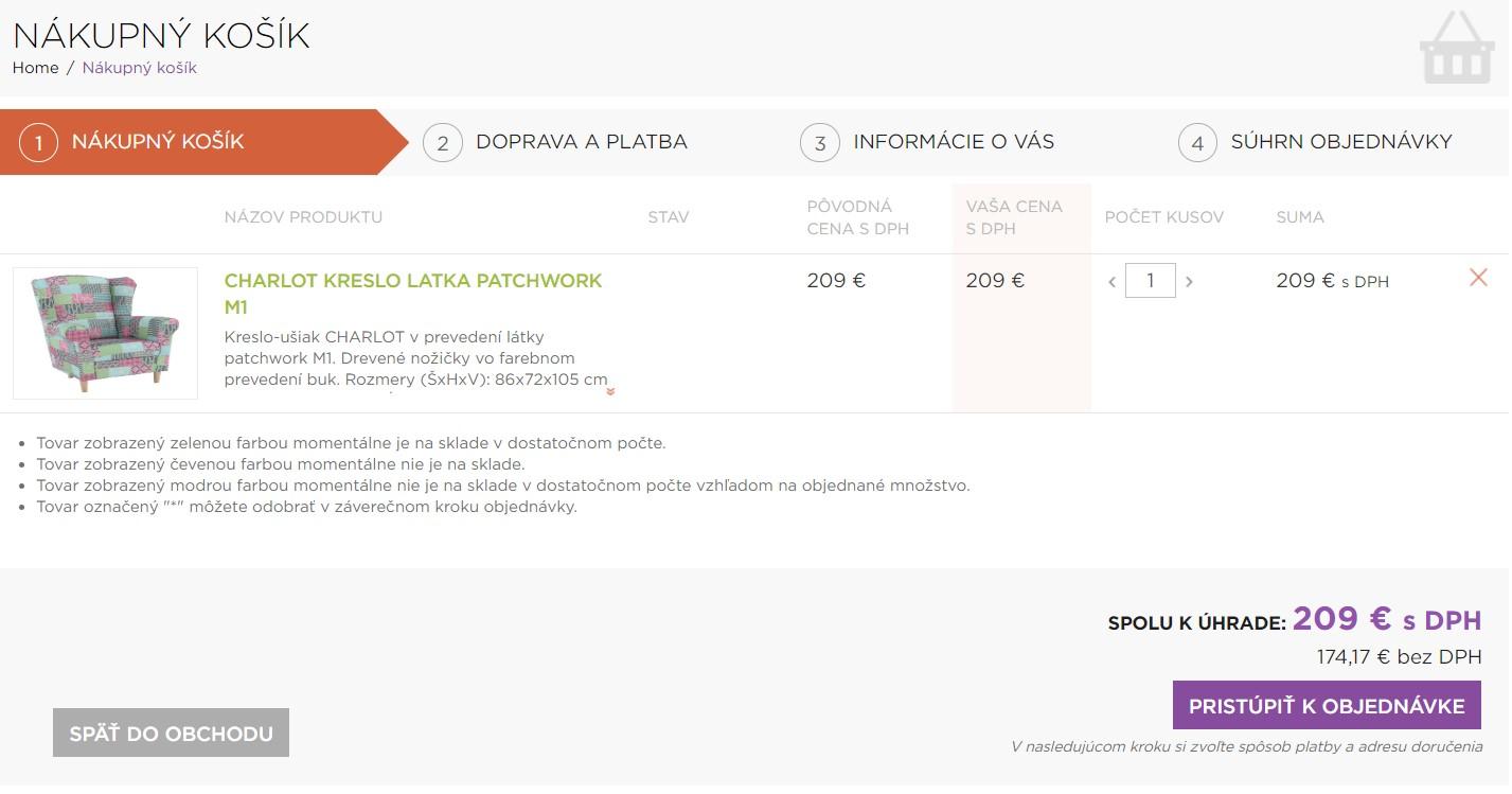 Nákup v e-shope Temponabytok.sk