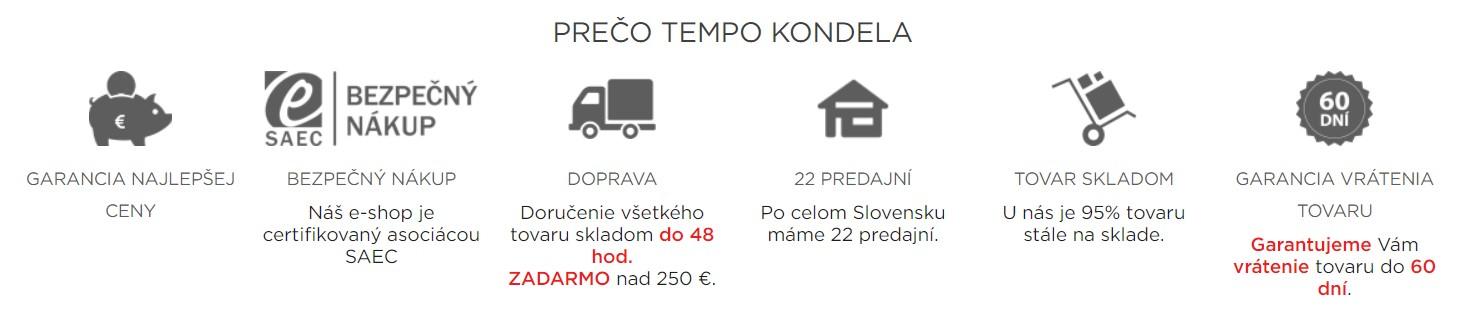 Výhody nakupovania v obchode temponabytok.sk