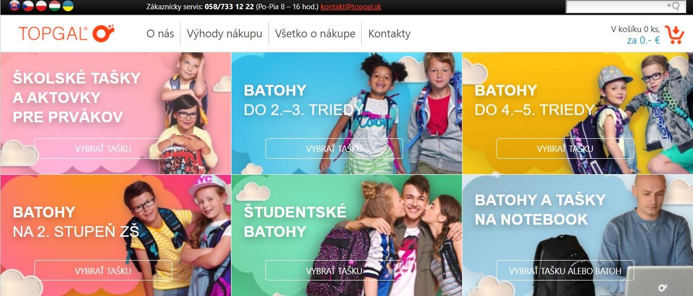 Internetový obchod Topgal.sk