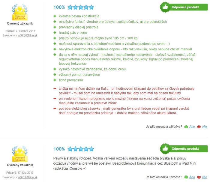 Recenzie a skúsenosti s rotopedom inSPORTline inCondi UB60i