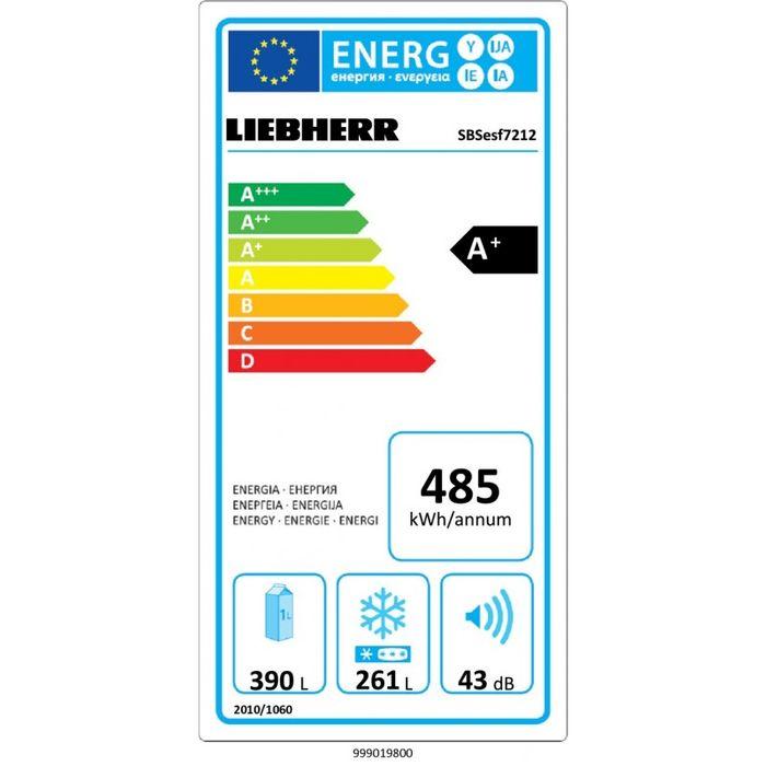 Liebherr SBSesf 7212 energetický štítok
