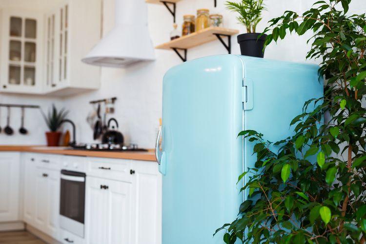 Modrá retro chladnička