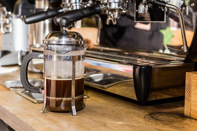 French press káva