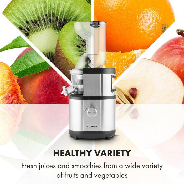 Klarstein Fruitberry sa hodí na odšťavovanie ovocia i zeleniny
