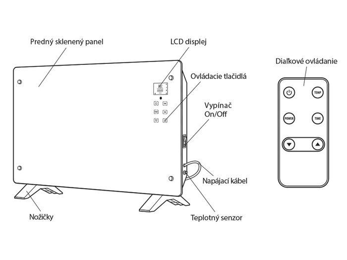 Elektrický konvektor Elíz GCT 2000 B popis