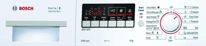 Bosch WAB 20262BY ovládací panel