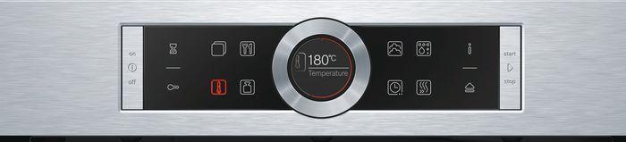 Ovládaci panel samočistiacej rúry Bosch HRG675BS1