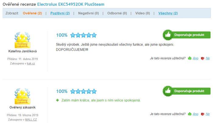 Recenzie a skúsenosti s elektrickou rúrou Electrolux EKC54952OK PlusSteam