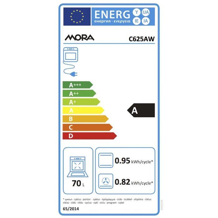 Mora C 625 AW energetický štítok