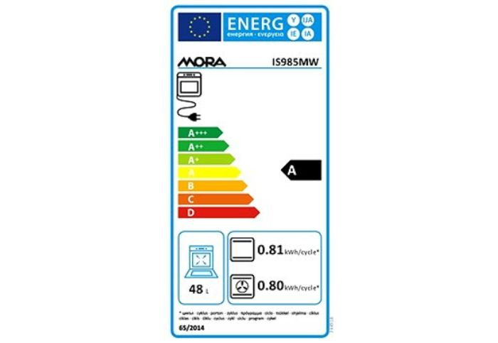 Mora IS 985 MW energetický štítok