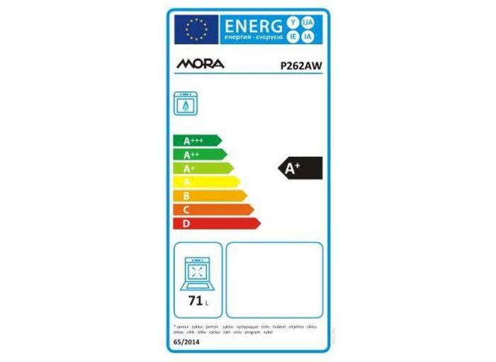 Plynový sporák Mora P 262 AW energetický štítok