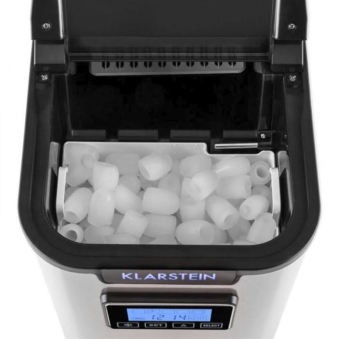 Výrobník ľadu produkuje ľad v tvare kužeľov