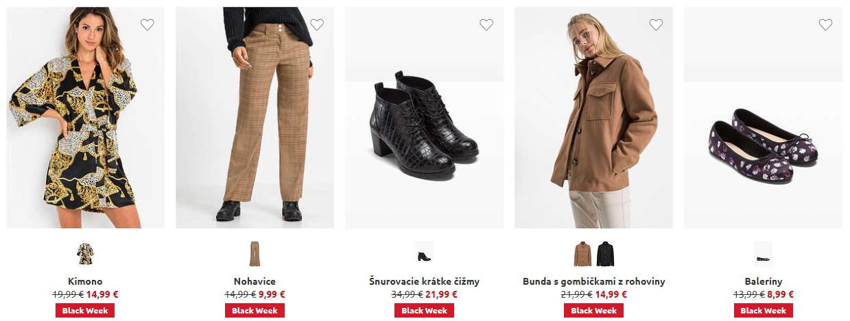 Black Friday Bonprix – zlacnené oblečenie