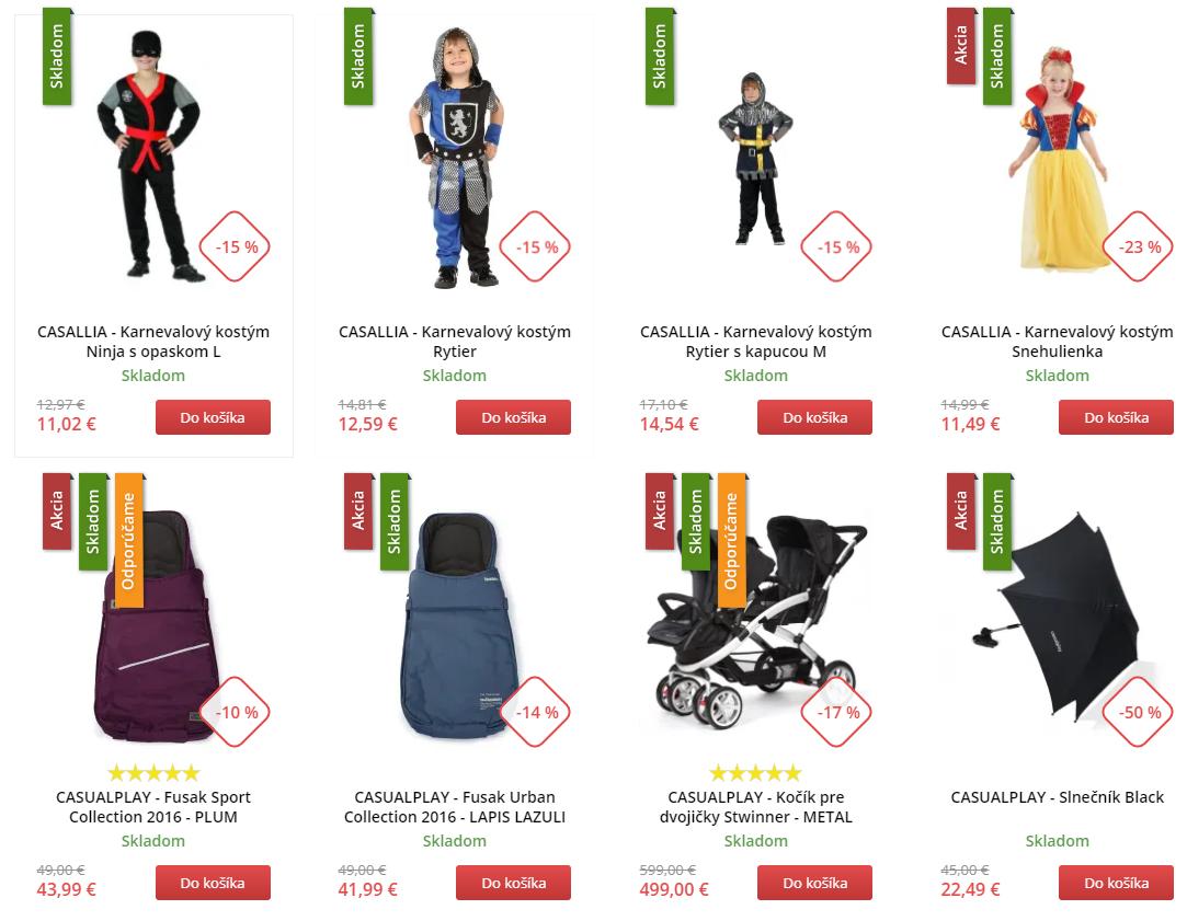 Black Friday Market24.sk – zlacnené kostýmy pre deti