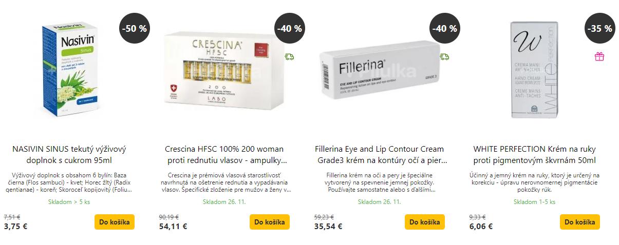Black Friday Pilulka – zlacnené kozmetické produkty