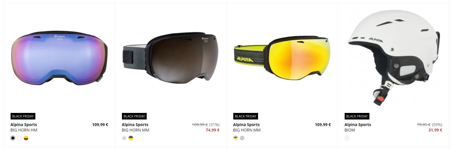 Black Friday Sportisimo – zlacnené lyžiarske okuliare