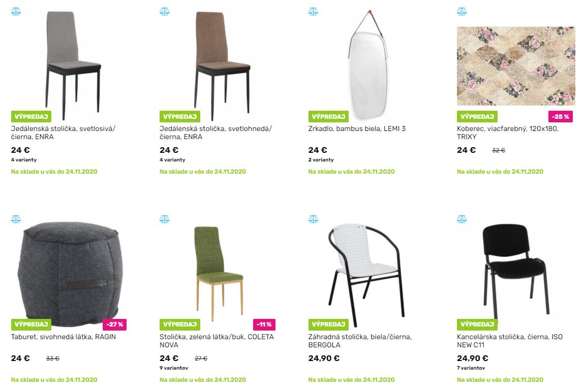 Black Friday Tempo nábytok – zlacnené stoličky