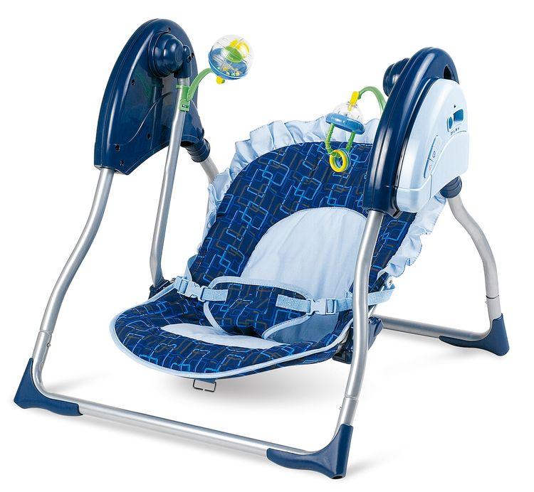Modré detské ležadlo – hojdačka