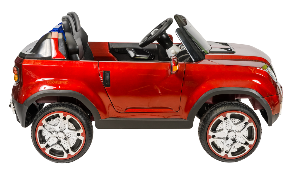 Červené terénne elektrické autíčko