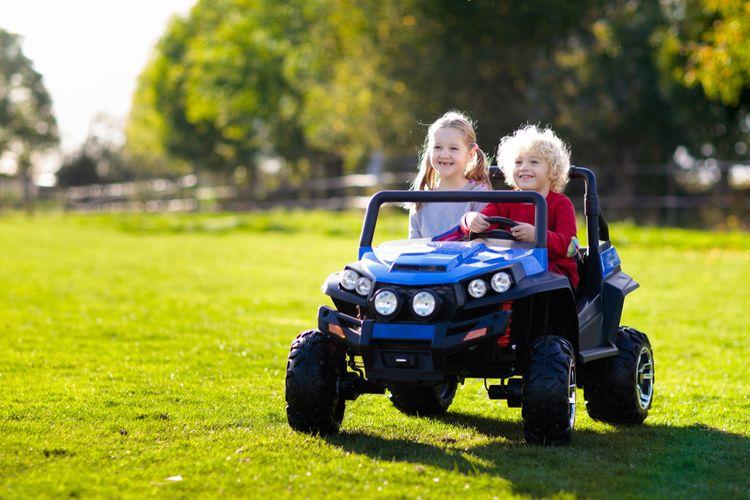 Elektrické terénne auto pre 2 deti