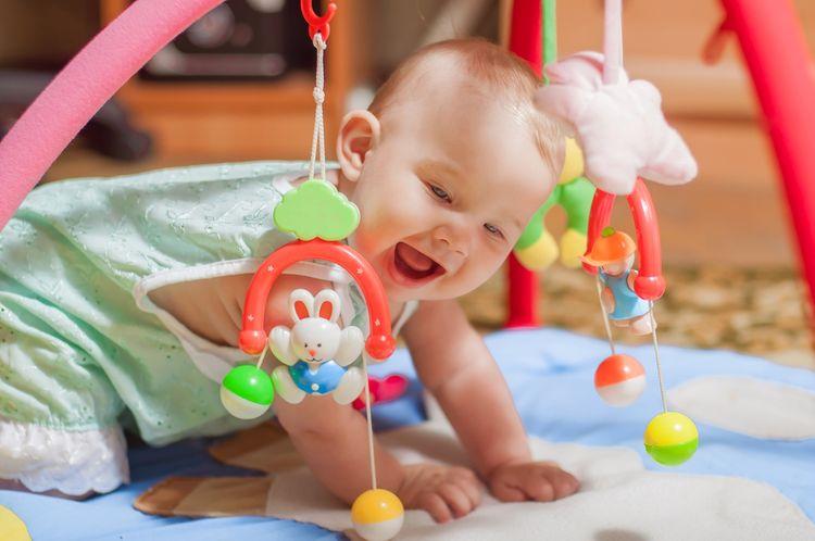 Hracia podložka s hrazdou pre najmenšie deti
