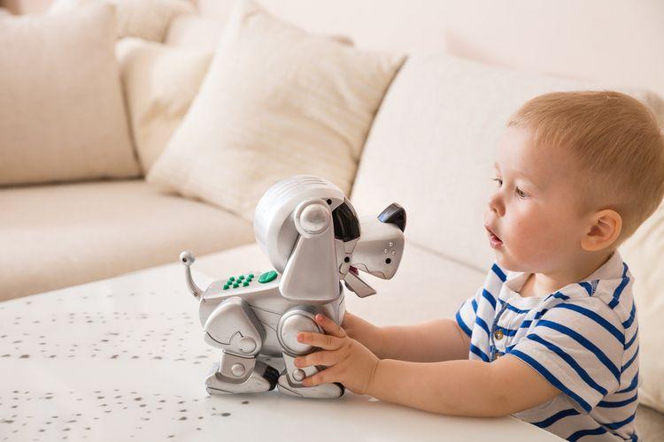 Robotický psík vhodný pre malé dieťa