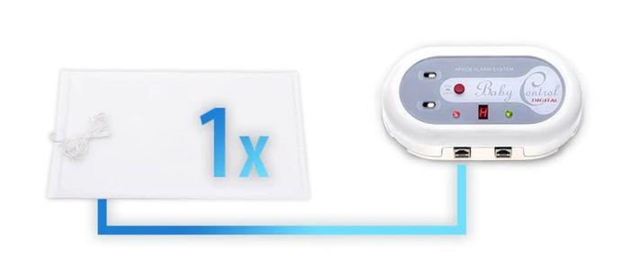 Monitor dychu Baby Control Digital BC-200 s jednou senzarickou podložkou