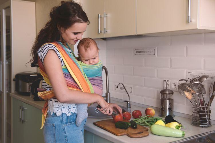 Farebná bavlnená šatka na nosenie detí
