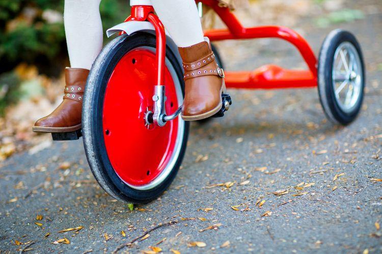 Červená retro trojkolka