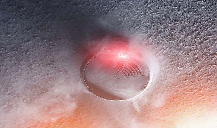 Detektor dymu na baterky
