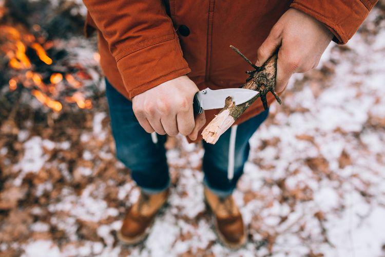 Opracovávanie dreva vreckovým nožom