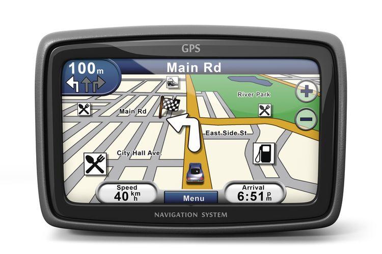 Veľkosť displeja GPS navigácie