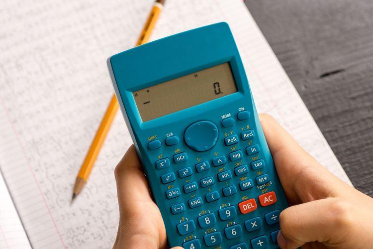 Modrá vedecká kalkulačka