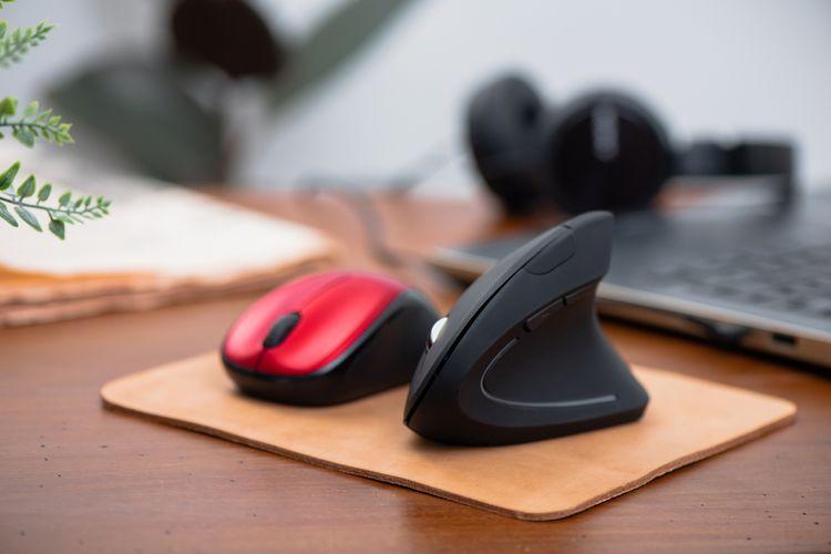 Ergonomická/vertikálna myš vs. klasická počítačová myš