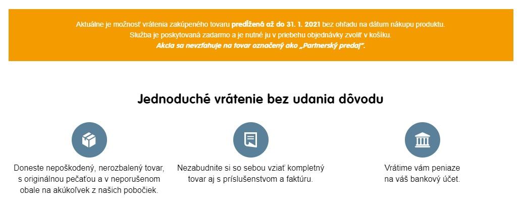 Vrátenie tovaru na mall.sk