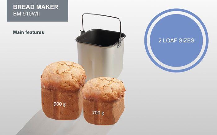 Gorenje BM910WII veľkosti chleba