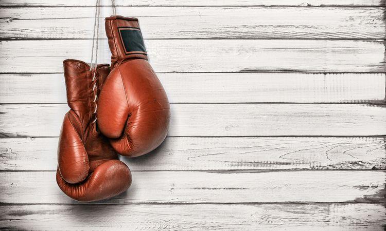 Kožené boxerské rukavice so šnúrkami