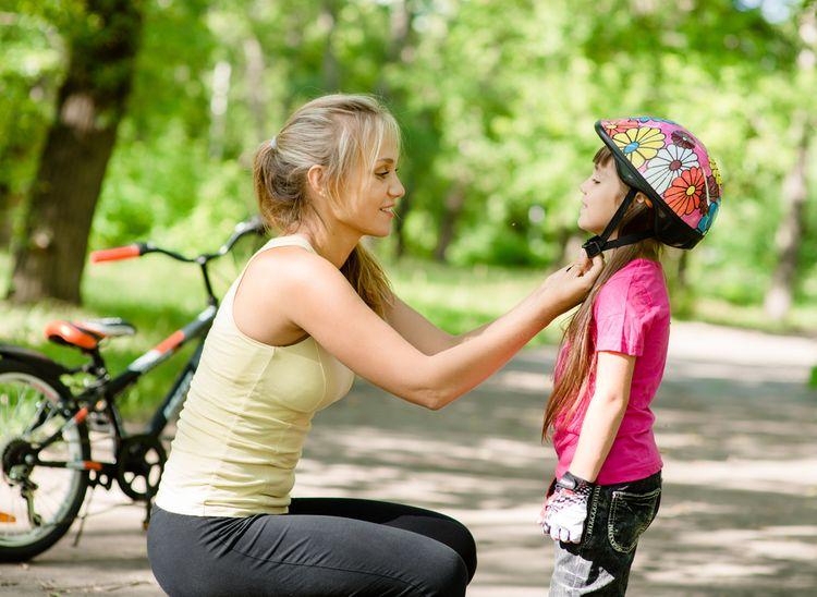 Kvetinová cyklistická prilba pre dieťa