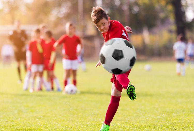 Čierno-biela detská futbalová lopta