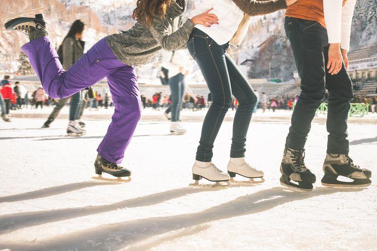 Rekreačné dámske a pánske zimné korčule