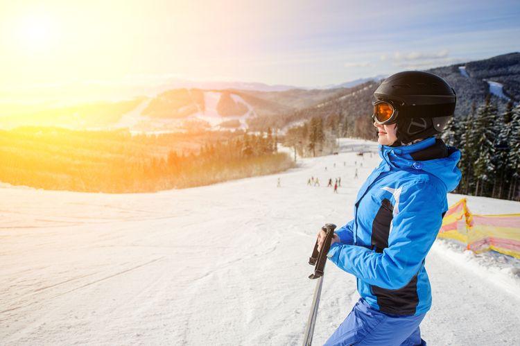 Dámsky lyžiarska prilba