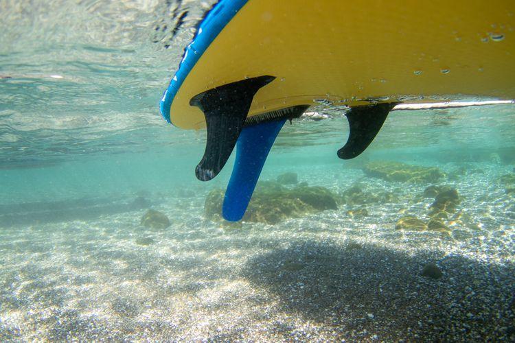 Rozmiestnenie plutiev na paddleboarde