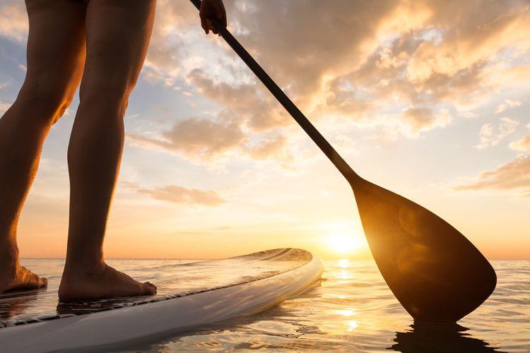 Paddleboard s pádlom