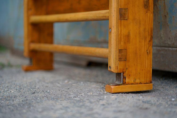 Outdoorové drevené rebriny