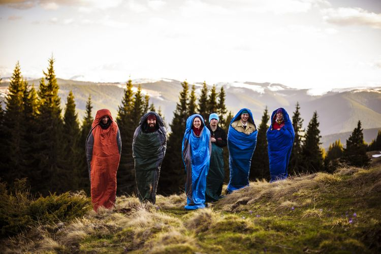 Múmiové zimné spacáky