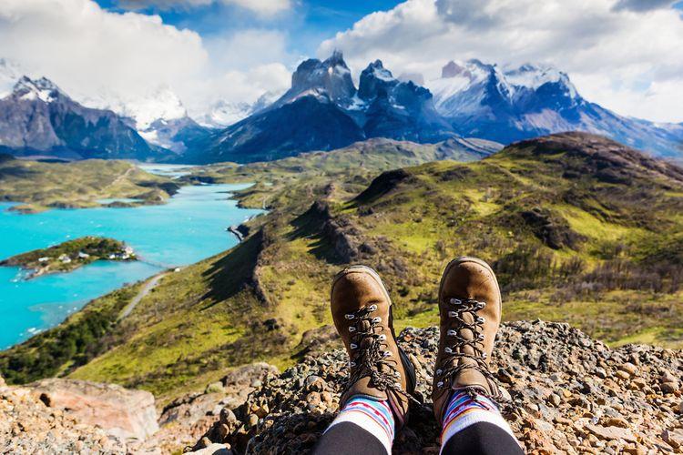 Outdoorové turistické topánky