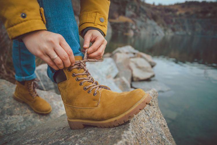 Hnedá dámska turistická obuv