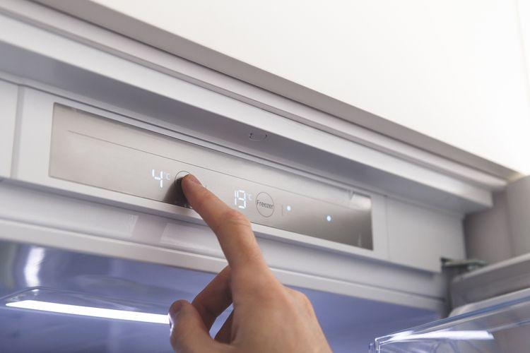 Nastavovanie teploty v chladničke a mrazničke
