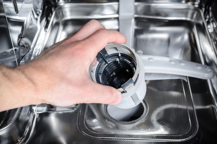 Čistenie filtra umývačky riadu