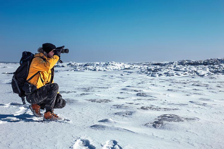 Používanie ďalekohľadu v zime